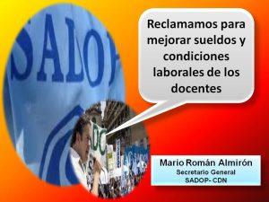 Lee más sobre el artículo RECLAMAMOS PARA MEJORAR SUELDOS Y CONDICIONES LABORALES DE LOS DOCENTES