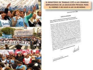 Lee más sobre el artículo EL MINISTERIO DE TRABAJO CITA A LAS CÁMARAS EMPLEADORAS DE LA EDUCACIÓN PRIVADA