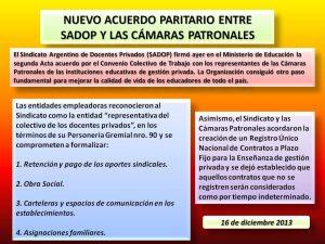 Lee más sobre el artículo NUEVO ACUERDO PARITARIO ENTRE SADOP Y LAS CÁMARAS PATRONALES