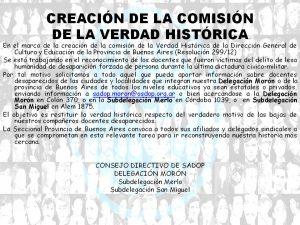 Lee más sobre el artículo CREACIÓN DE LA COMISIÓN DE LA VERDAD HISTÓRICA
