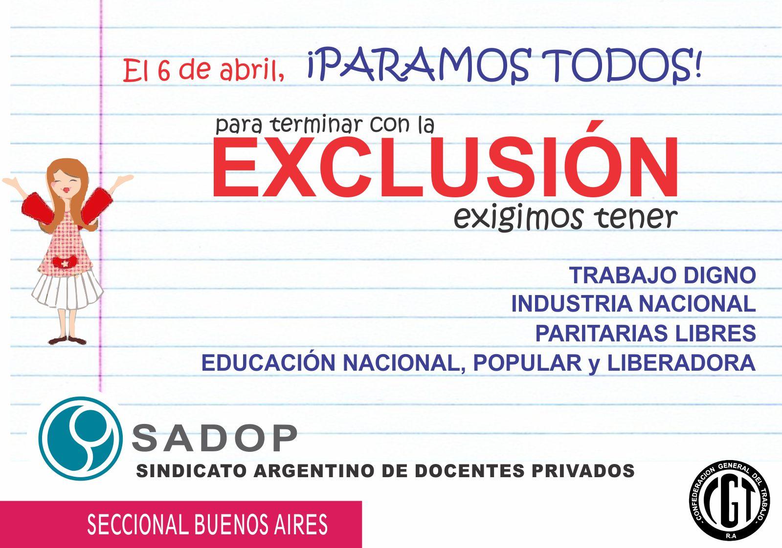 En este momento estás viendo SADOP para el 6 de abril