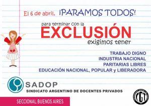 Lee más sobre el artículo SADOP para el 6 de abril