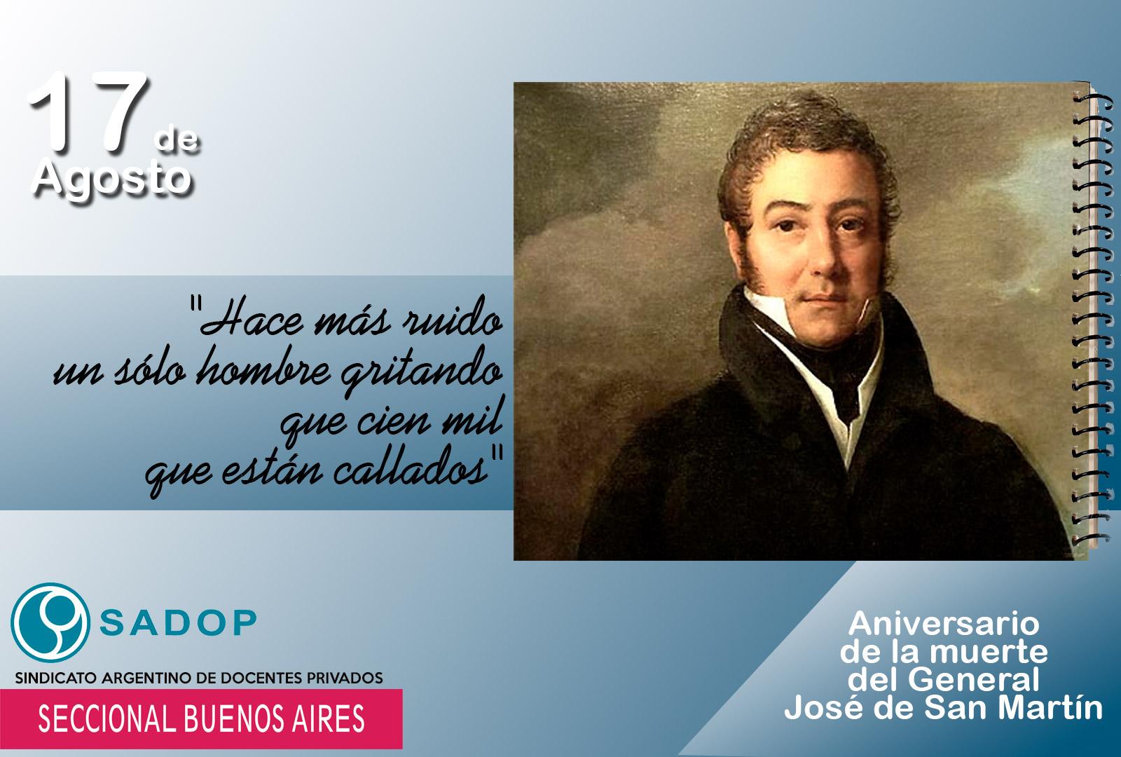 En este momento estás viendo Hoy se cumplen 167 años del Fallecimiento del Gral Don José de San Martín